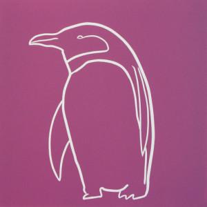 Penguin 4 - Linocut by Jane Bristowe