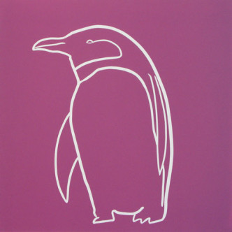 Penguin 4 - Linocut by Jane Bristowe