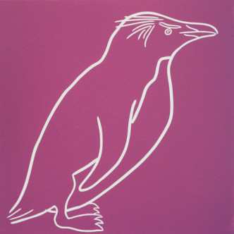 Penguin 6 - Linocut by Jane Bristowe