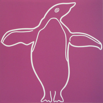 Penguin 7 - Linocut by Jane Bristowe