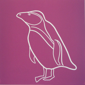 Penguin 9 - Linocut by Jane Bristowe