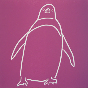 Penguin 10 - Linocut  by Jane Bristowe