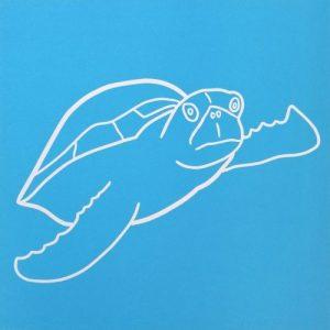 Turtle Navigating Linocut by Jane Bristowe