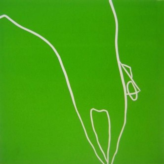 Horse Jumping - Linocut, green ink, by Jane Bristowe