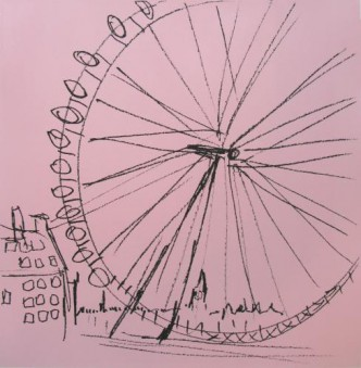 London Eye Screenprint