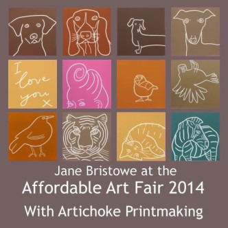 Jane Bristowe at the Affordable Art Fair 2014