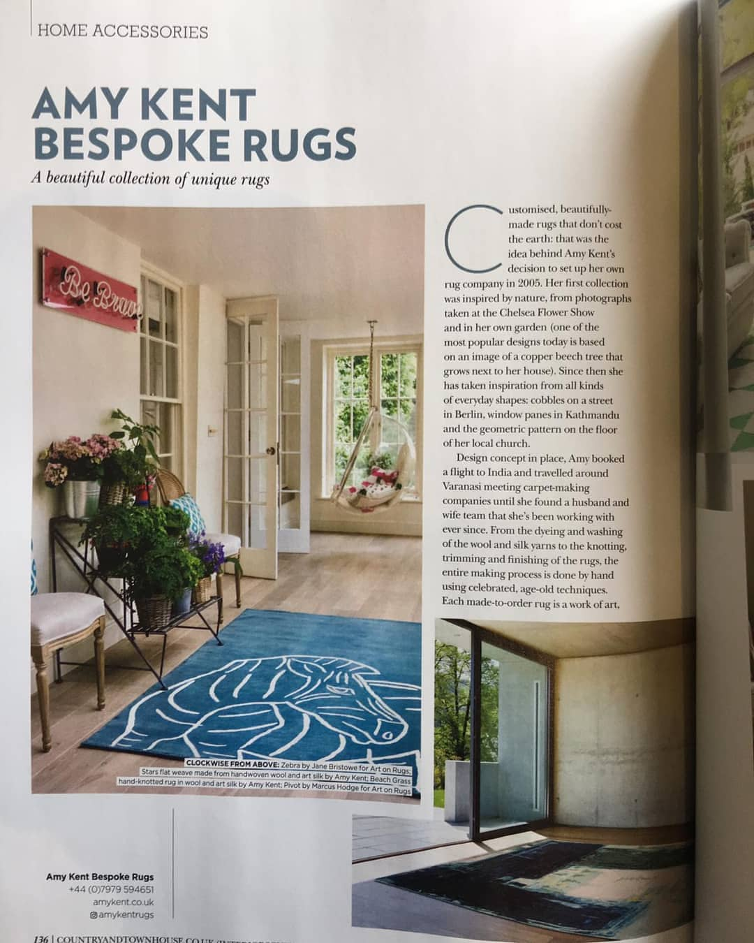 Country and Town House Magazine Article