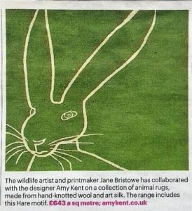 Hare rug in The Sunday Times