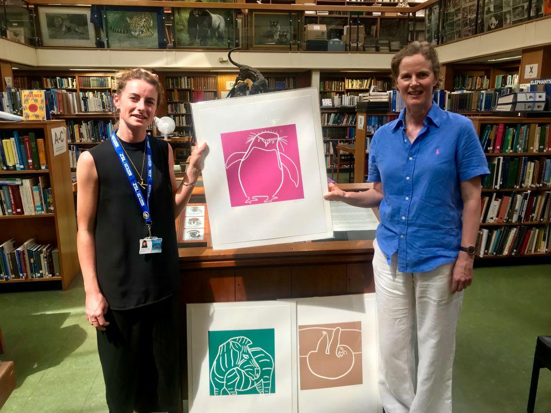 Jane Bristowe with London Zoo fundraiser, Kayleigh McDougall