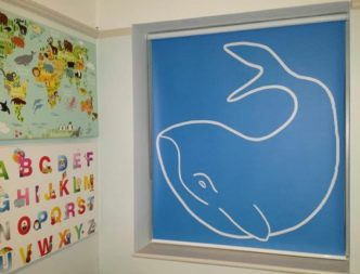 Creatively Different Whale roller blind